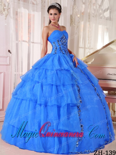 Cheap Ball Gown Sweetheart Floor-length Organza Paillette Dramatic ...