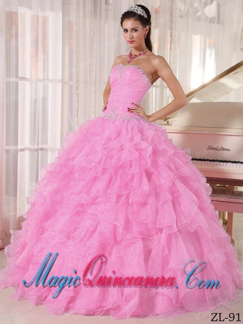 Baby Pink Quinceanera Dresses | Baby Pink 15 Dresses - Magic ...