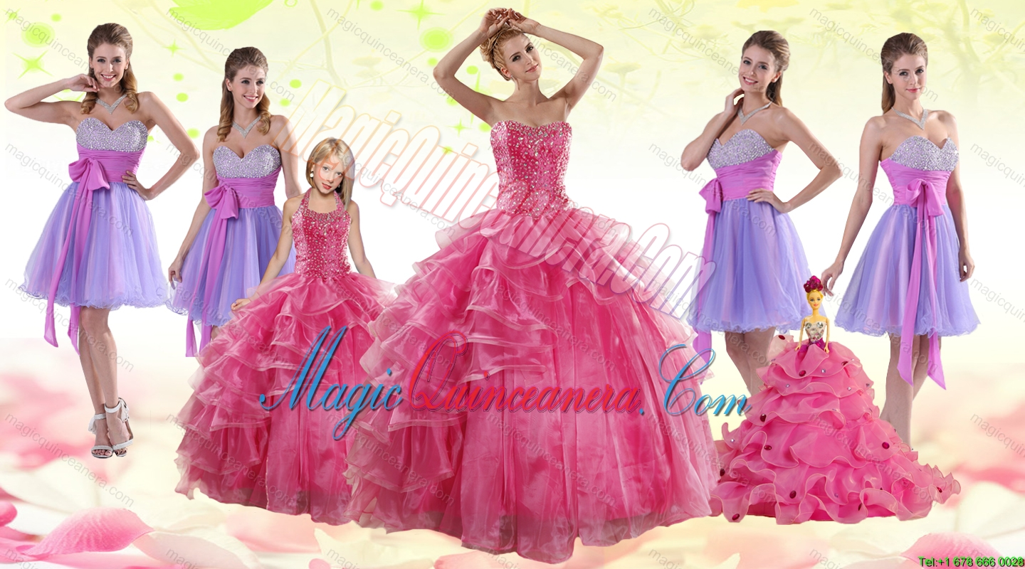 Coral Red Strapless Beading Sweet 16 Dress and Sweetheart Beading Prom Dresses and Halter Top Litter Girl Dress