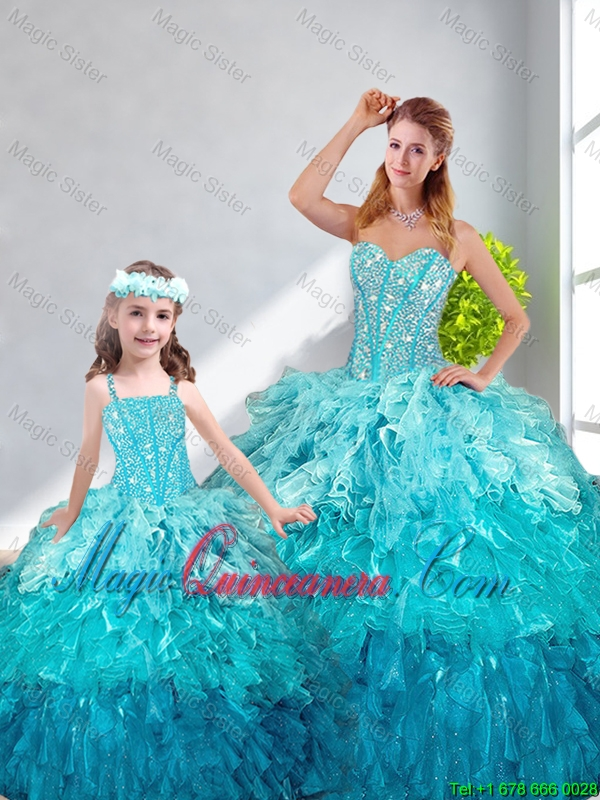 2016 Spring Beautiful Ball Gown Sweetheart Macthing Sister Dresses in Multi Color