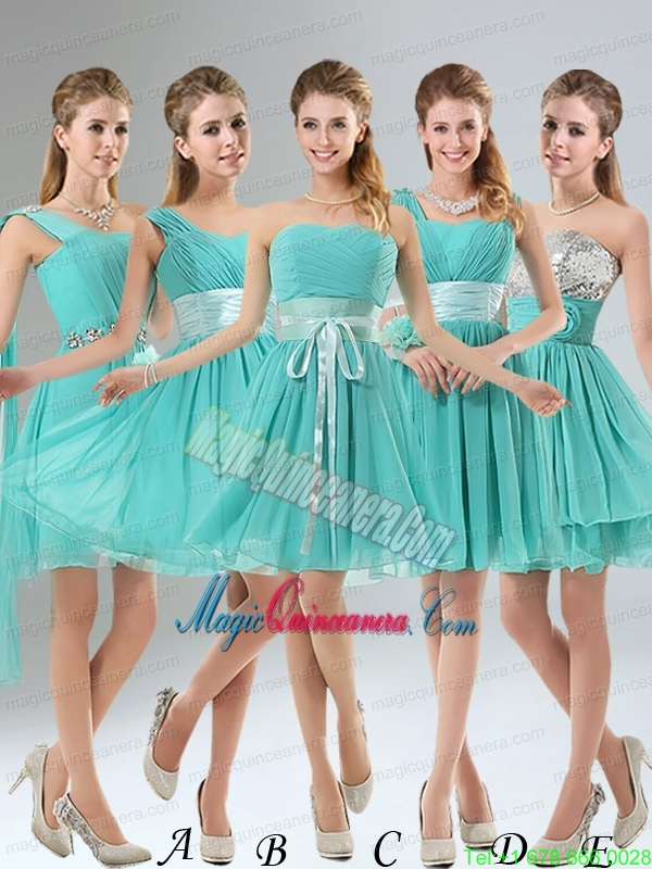 2015 A Line Ruching Lace Up Mother of the Bride Dresses in Aqua Blue