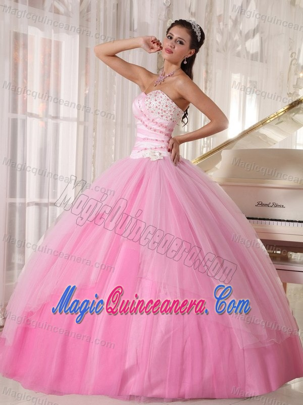 Pink Tulle Quinceanera Gowns Dresses with Beading in Puerto Rico ...