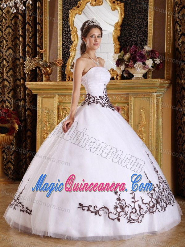 Low Price White Ball Gown Sweet 16 Dresses with Embroidery - Magic ...