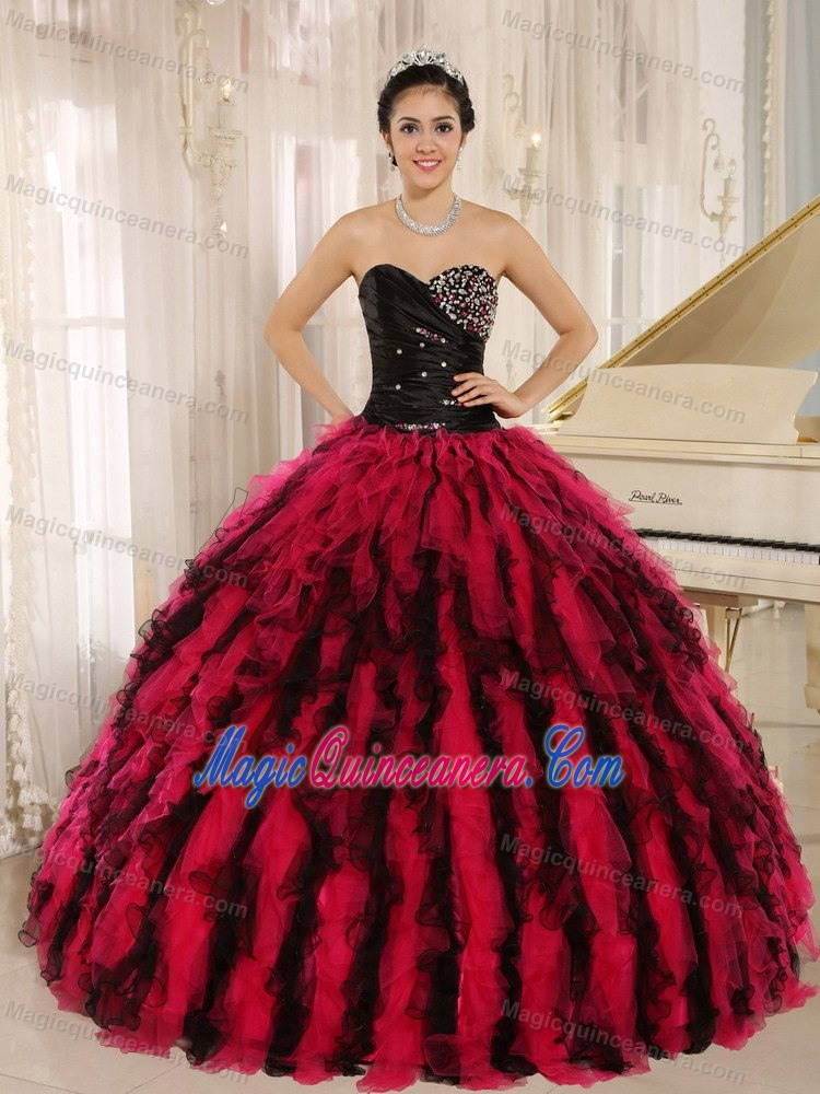 Red And Black Quinceanera Dresses | Red And Black 15 Dresses ...