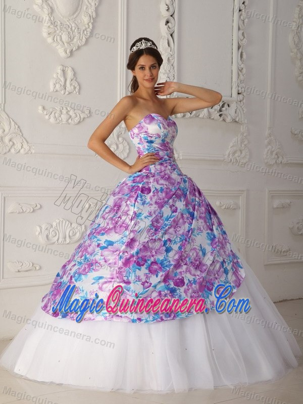 A-line Sweetheart Quinceanera Dress by Pink Fabric with Ruches for ...