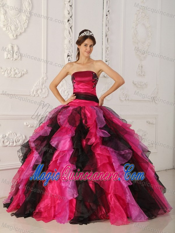 ee0e7ca3f93 Multi-color Sweet Sixteen Quinceanera Dresses with Appliques and Ruffles.  triumph