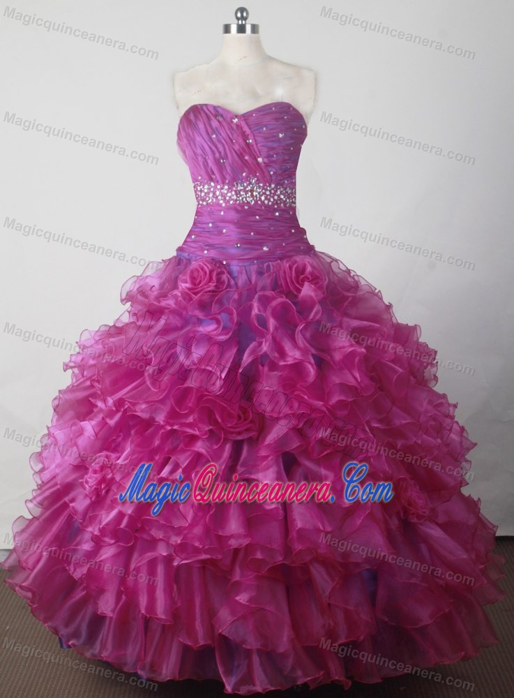 Sweetheart Beading and Ruffles for 2014 Little Girl Pageant Dress