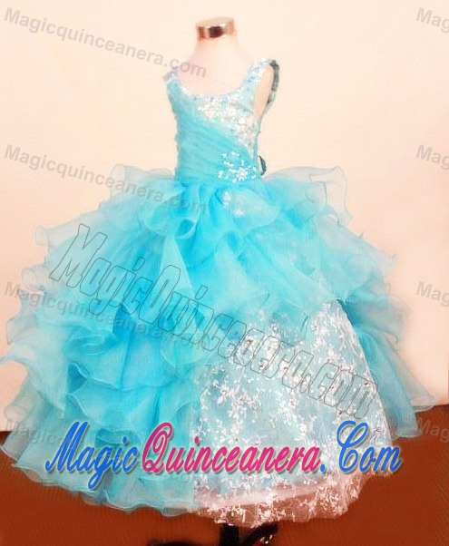 Fall Color Dresses For Little Girls Baby Blue Scoop Little Girl