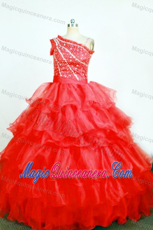 Fall Color Dresses For Little Girls Red Ball Gown Little Girl