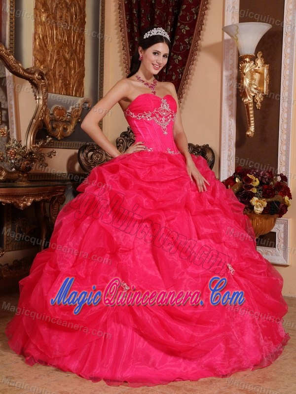 Appliqued Hot Pink Sweet 16 Dress in Sao Bernardo Do Campo Brazil ...