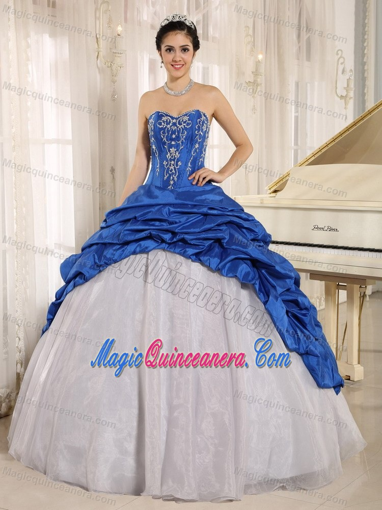 Royal Blue and White Dress
