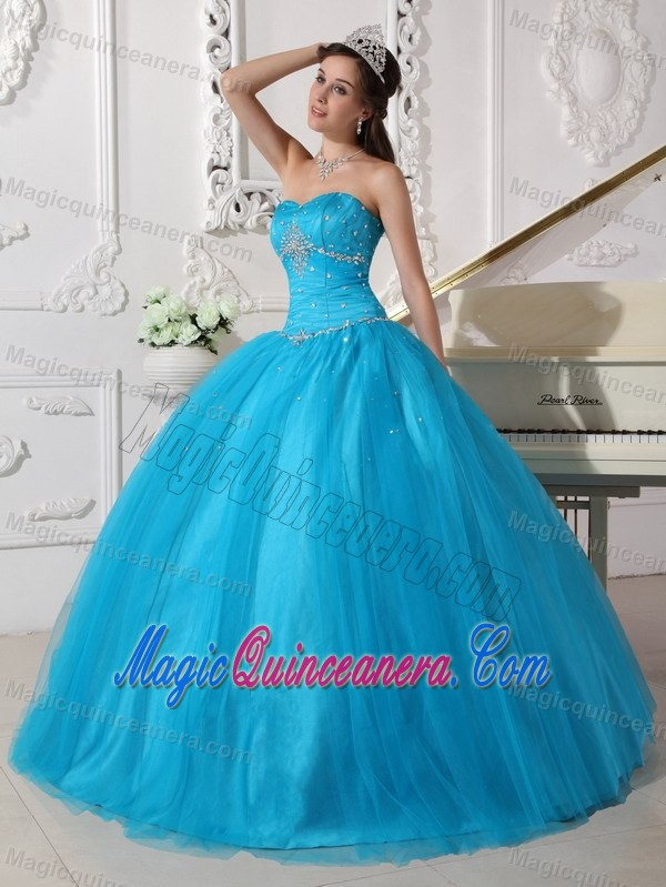 Teal Quinceanera Dresses 2013 Customer Made Teal Bal...