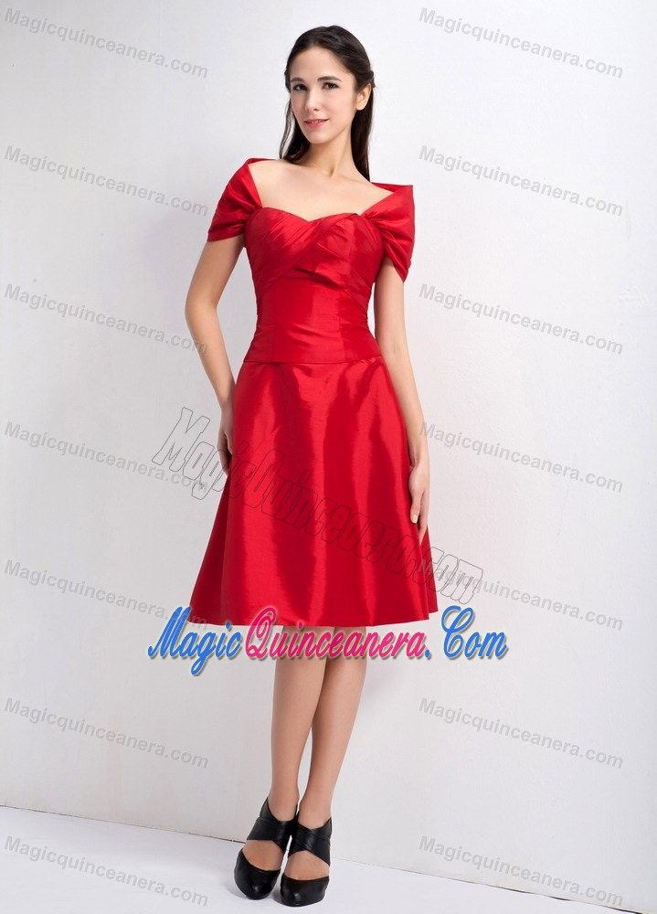 1bb558db795 Red Off the Shoulder Knee-length Taffeta Dresses for Damas in Cambridge