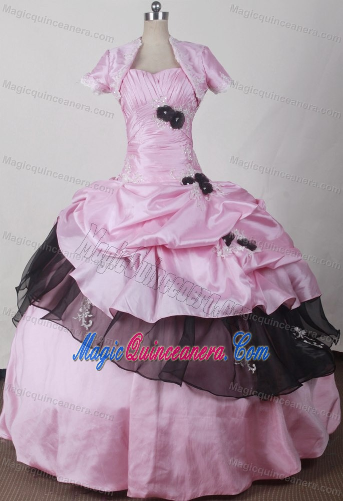 Pink And Black Quinceanera Decorations Pink