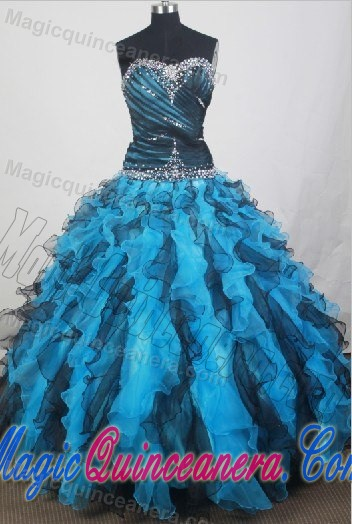 black and blue quinceanera dresses cheap