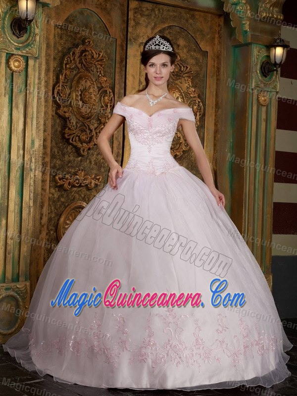 Light Pink Ball Gown Off the Shoulder Sweet 16 Dresses in Auckland