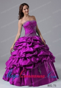 Cheap Ball Gown Quinceanera Dress With Beading and Pick-ups