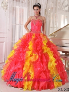 Orange Quinceanera Dresses | Orange 15 Dresses - Magic Quinceanera