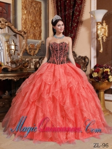 Discount Quinceanera Dresses Sweetheart Floor-length Organza Embroidery with Beading