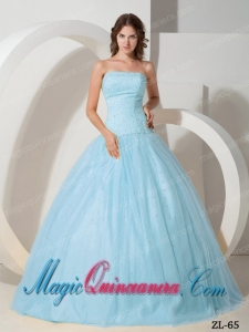 Elegant Ball Gown Beading Quinceanera Dress with Strapless
