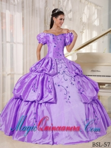 Ball Gown Off The Shoulder With Embroidery Perfect Quinceanera Dresses