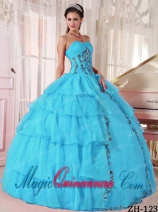 Cheap Ball Gown Sweetheart Floor-length Organza Paillette Beautiful Sweet 16 Gowns