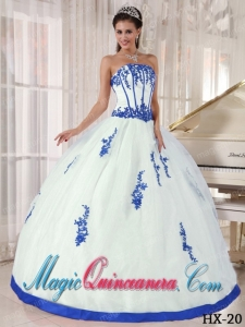 Colorful Strapless With Appliques Perfect Quinceanera Dresses