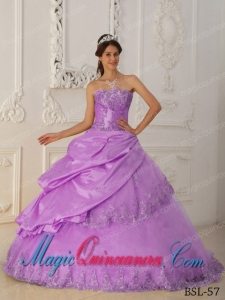 Perfect Quinceanera Dresses In Lavender A-Line / Princess Sweetheart With Beading