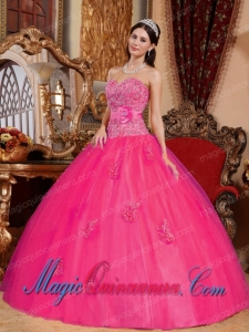 Ball Gown Sweetheart Floor-length Tulle Appliques New style Quinceanera Dress