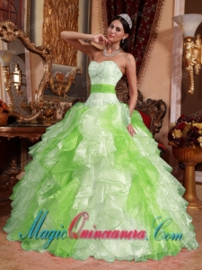Multi-colored Ball Gown Sweetheart Floor-length Organza Beading and Ruching New style Quinceanera Dress