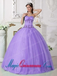 Perfect Quinceanera Dresses In Lilac Ball GownSweetheart Beading