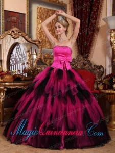 Wonderful Ball Gown Strapless Floor-length Tulle Beading New style Quinceanera Dress