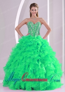 Fashionable Ball Gown Sweetheart Spring Quinceanera Dress in Sweet 16