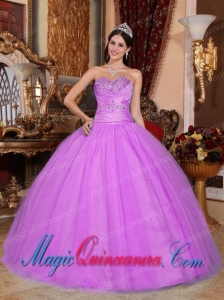 Hot Pink Ball Gown Sweetheart Tulle and Taffeta Beading and Ruching Perfect Quinceanera Dresses