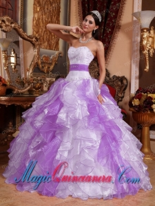 Multi-colored Ball Gown Sweetheart Organza Pretty Quinceanera Dress with Beading and Ruching