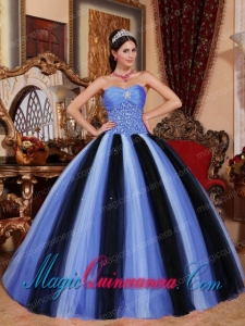 Tulle Multi-colored Ball Gown Sweetheart Floor-length Pretty Quinceanera Dress with Beading