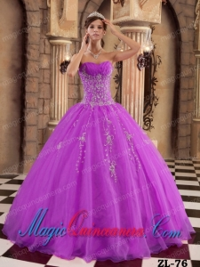 Fuchsia Ball Gown Vintage Organza Quinceanera Dress with Beading