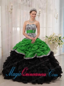 Brand New Green and Black Ball Gown Sweetheart Floor-length Popular Quinceanera Dresses