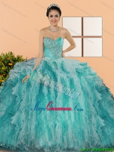 2015 Gorgeous Sweetheart Sweet 15 Dresses with Appliques and Ruffles
