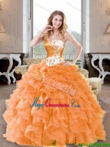 Fashionable Beading and Ruffles Sweetheart Quinceanera Dresses for 2015