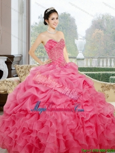 Luxury Ruffles and Pick Ups Sweetheart Sweet 15 Dresses for 2015