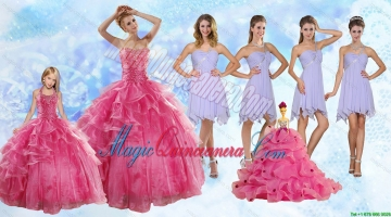 Strapless Beading Coral Red Sweet 16 Dress and Beading Short Lavender Prom Dresses and Halter Top Beading Litter Girl Dress