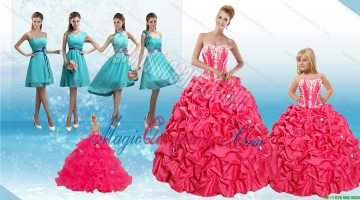 Sweetheart Pick Ups and Appliques Quinceanera Dress and Baby Blue Short Dama Dresses and Strapless Pick Ups Litter Girl Dress