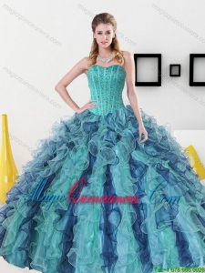 Dramatic Beading and Ruffles Sweetheart Sweet 16 Dress for 2015