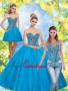 Fashion Beading Sweetheart Quinceanera Dresses for 2015