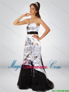 Discount Column Camo Dama Dresses with Hand Made Flower and Sashes