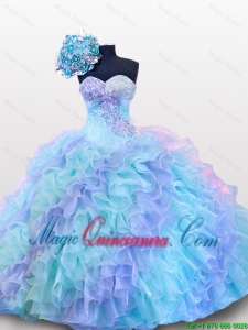 Beautiful Beading and Sequins Sweetheart Quinceanera Dresses for 2015