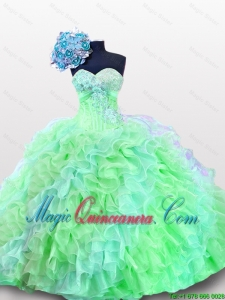 Luxurious Sweetheart Quinceanera Dresses with Appliques and Sequins for 2015 Summer