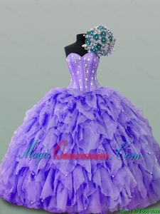 New Style Quinceanera Dresses with Beading and Ruffles for 2015
