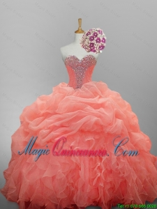 Pretty Ball Gown Sweetheart Quinceanera Dresses for 2015 Summer
